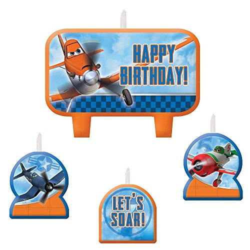 1 X Disney Planes 2 Birthday Candle Set - 4 pcs by Amscan
