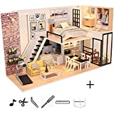 KISSTAKER Dollhouse Miniature Kit-Mini DIY...