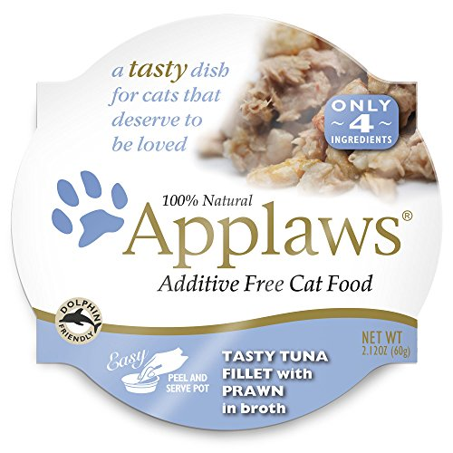 Applaws Tasty Tuna Fillet with Prawn Cat Food, 18 - 2.12 Ounce Cups