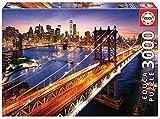 Educa Borras 18508 - Rompecabezas Manhattan al atardecer, 3000 piezas