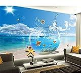 Rureng Envío Gratis 3D Sea View Wallpaper Sofá De La Sala Dormitorio Televisión Bar Fondo Peces Acuario Wallpaper Wallpaper Mural-450X300Cm