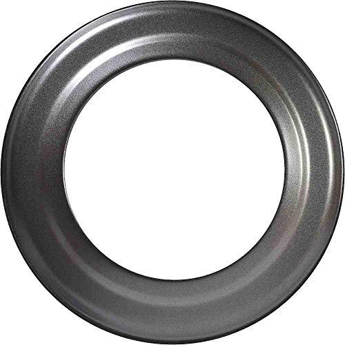 FIREFIX RD150/R Ofenrohrrosette für 2 mm starken Ofenrohre/Rauchrohre in 150 mm Durchmesser, für Kaminöfen und Feuerstellen, Senotherm, dunkelgrau, starr, Schwarz
