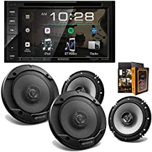 "Kenwood Audio DDX26BT 6.2"" Double Din Bluetooth WVGA Touch Screen DVD Receiver + (4) KFC-1666S 6.5"" 300W Coaxial Speakers and Free Mobile Bracket"