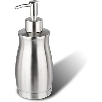 ARKTEK シャンプーボトル、 ソープディスペンサー ステンレス おしゃれ ディスペンサー ステンレス シャンプー ボトル ハンドソープ 食器用洗剤 キッチン 洗面所などに適用 400ML