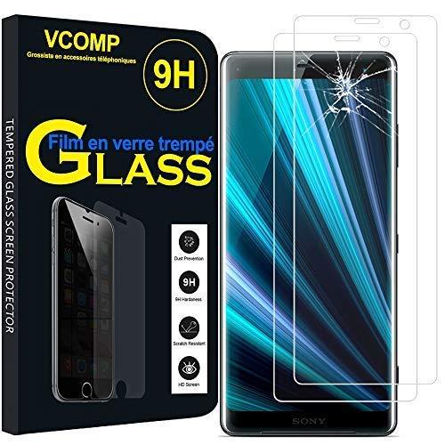 """annaPrime® - Set di 2 pellicole proteggi schermo in vetro temperato per Sony Xperia XZ3 / XZ3 Dual SIM da 6,0"""", dimensioni esterne del telefono: 158 x 73 x 9,9 mm, colore: Trasparente"""