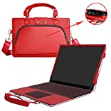 Surface Laptop Case,2 in 1 Accurately Designed Protective PU Leather Cover + Portable Carrying Bag for 13.5' Microsoft Surface Laptop,Red