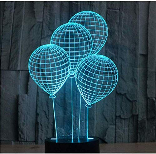 3D LED Nachtlampje Ballon met 7 Kleuren Licht voor Home Decoratie Lamp Verbazingwekkende Visualisatie Optische Illusie Geweldig