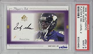 Randy Moss Signed Auto 1999 SP Authentic Players Ink Level 2 Card #RM-A 9 - PSA/DNA Certified - NFL Autographed Football Cards