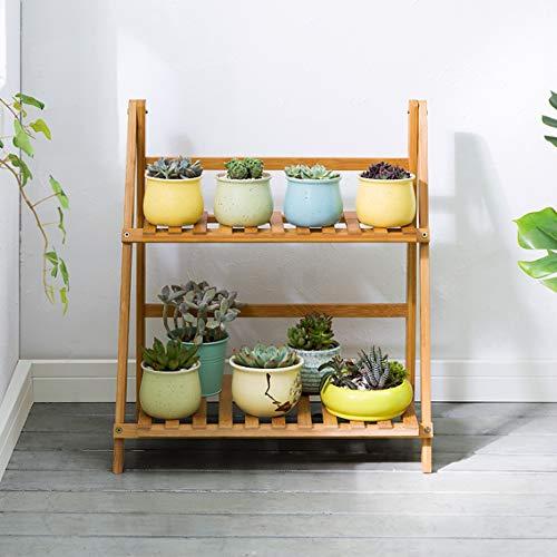 LRW meerlagige opvouwbare bamboehouten bloemen-staande woonkamer-vloer-soort binnenbalkon-systeem bloemen-staan-ruimtebesparend frame