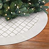 New Traditions Simplify Your Holiday Christmas Tree Skirt Holiday Decor (VelvetGold Glitter)