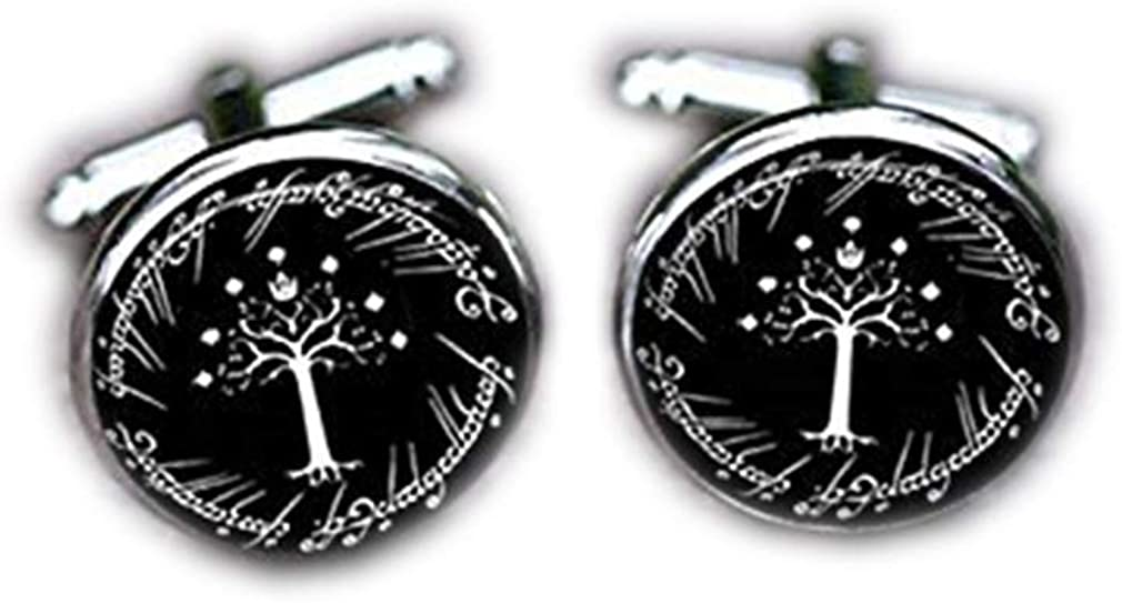 Bloody devil Wedding Cufflinks,Tree of Life Cufflinks, Life Tree, White Tree Wedding Gifts Father Grandfather Birthday Gifts, Grooms Groomsmen,Unique Gifts Tie Clips,Gift of Love