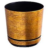 KORAD Pot de Fleur - Or Antique 26 cm - Pot de Fleur avec Trous...