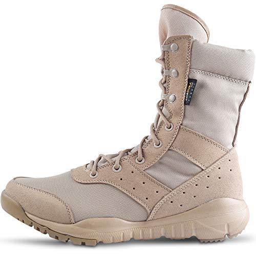 WWOODTOMLINSON Men's LD Lightweight Combat Boots Military Tactical Boots,Tan,9.5 M US