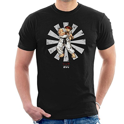 Ryu Street Fighter Retro Japanese Men's T-Shirt