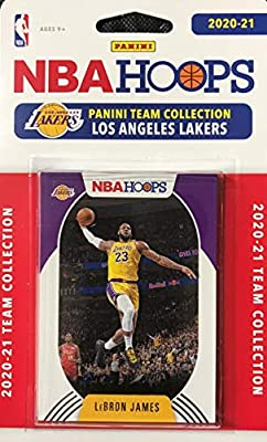 Los Angeles Lakers 2020 2021 Hoops Factory Sealed Team Set with LeBron James