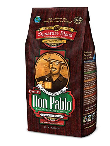 2LB Cafe Don Pablo Gourmet Coffee Signature Blend - Medium-Dark Roast Coffee - Whole Bean Coffee - 2 Pound ( 2lb ) Bag (PACK OF 2)