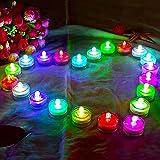 HL 36pack RGB subacquea subacquea rotonda Mini LED Tea Lights luci sommergibili per matrimonio Home Patry Vase Festival di San Valentino Decorazione