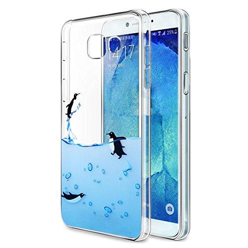 Funda Samsung Galaxy A5 2017, Eouine Cárcasa Silicona 3D Transparente con Dibujos Diseño Suave Gel TPU [Antigolpes] de Protector Bumper Case Cover Fundas para Movil Samsung Galaxy A5 2017 (Pingüinos)