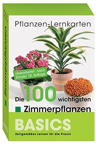 Pflanzen-Lernkarten: Die 100 wichtigsten Zimmerpflanzen: 100 Lernkarten mit Lernkartenbox