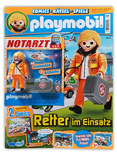 Playmobil Sammelmagazin Nr. 5/2019 inkl. Comics Rätsel Poster und limitierter Figur Notarzt