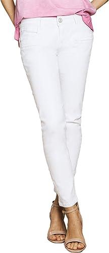 Blau Fire Co Alicia Skinny Jeans Weiß Denim - Damen