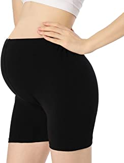 Women Under Dress Pregnancy Short Leggings Yoga Maternity Shorts Over The Belly