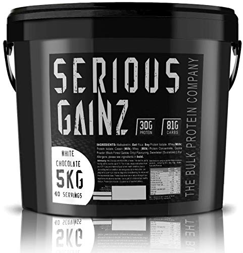 The Bulk Protein Company - Serious Gainz – Mass Gainer Protein Powder – White Chocolate 5kg