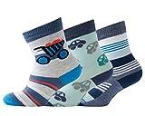 Melton Baby-Jungen 600097 Socken, Mehrfarbig (Baby Boy 088), 16 (Herstellergröße: 15-16) (3er Pack)