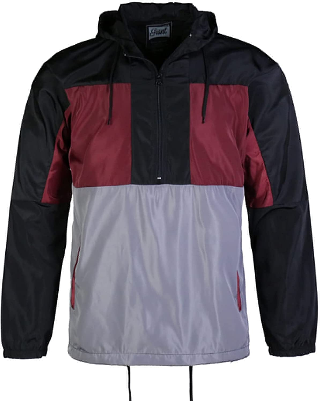 Men's Water Resistant Jacket Soft long sleeve Lightweight School Fashion Trenchcoat