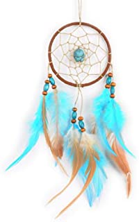 Carmen Turquoise Dream Catchers Wall Hanging Ornament Vintage Indian Feather Home Car Pendant Decor Handcraft Ornaments