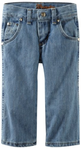 Wrangler boys Retro Relaxed Fit Boot Cut jeans, Ocean Water, 12 US