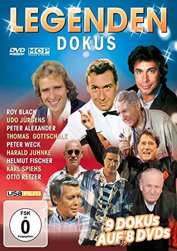 Legenden Dokus - 9 Dokus auf 8 DVDs (Roy Black, Udo Jürgens, Peter Alexander, Thomas Gottschalk, Peter Weck, Harald Juhnke, Helmut Fischer, Karl spiehs, Otto Retzer)