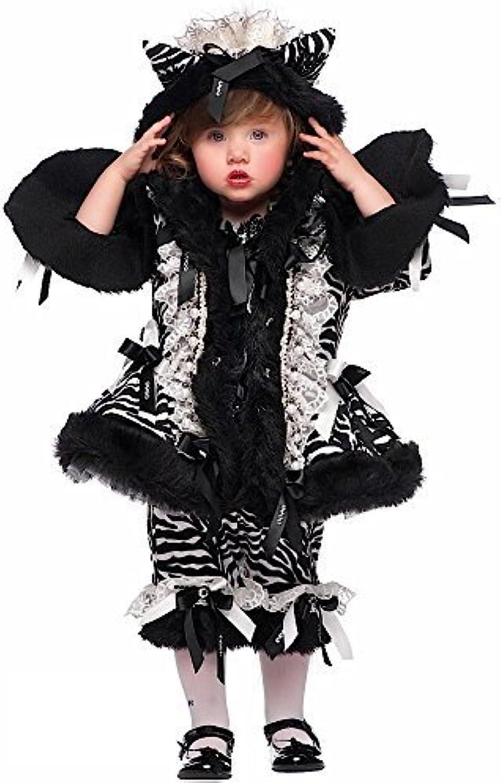 Fancy Me Italian Made Prestige Deluxe Baby &ltere Mdchen Zebramuster Festzug Safari Zoo Tier Halloween Karneval Kostüm Verkleidung Outfit 0-10 Jahre - 1 Year
