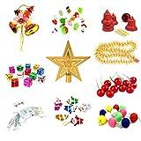Amosfun Surtido de adornos para árbol de Navidad, incluye bolas para...