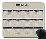 2019 Kalender Mauspad, Kalender Schreibtisch Gaming Mausmatten, Kalender Planer 2019 mit Feiertagsdetails
