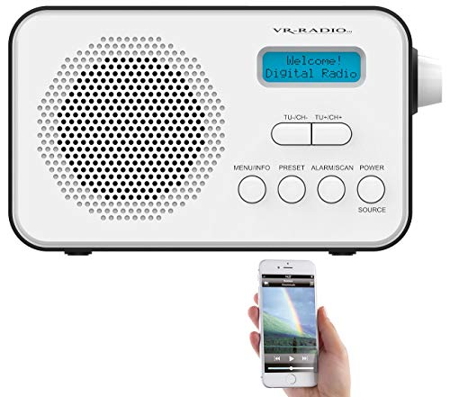 VR-Radio Radio: Mobiles Akku-Digitalradio mit DAB+ & FM, Wecker, Bluetooth 5, 8 Watt (Akku Radio)