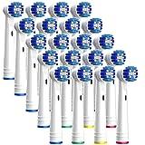 TIMBERLION Aufsteckbürsten für Oral B elektrische Zahnbürsten, Aufsätze Precision Clean kompatibel, Bürstenköpfe 20er Pack