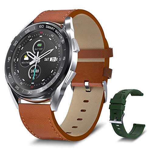 Bebinca Smartwatch per uomo, Display a colori Full-round, Fitness tracker con cardiofrequenzimetro e ossigeno nel sangue Notifiche di messaggi, Batteria estremamente lunga IOS Android