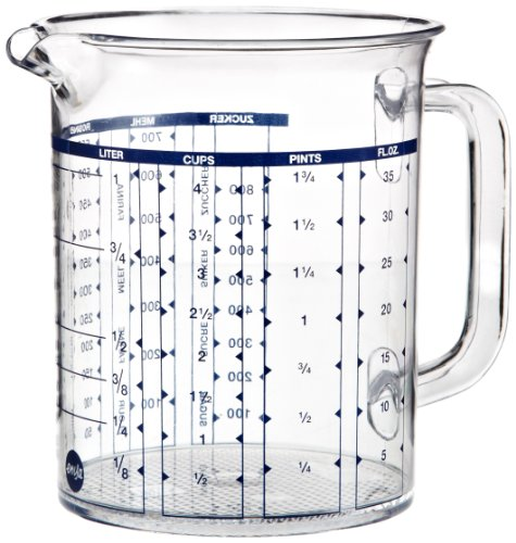 Emsa 2217100000 Messbecher, 1 Liter, Transparent, Superline