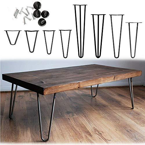 Möbelfüße, 4er Set, Hairpin Legs Austauschbare Tisch &Schrank Beine Haarnadelbeine Tischgestell, mit Bodenschoner und Schrauben Verfügbar in Höhe von 10cm-71cm