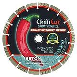 ChilliCut Diamant-Trennscheibe CHILLI-ROXX Beton 230mm x 22,2mm Diamantscheibe Segmenthöhe 10mm
