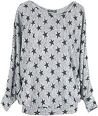 Emma & Giovanni Camiseta Manga Larga Mujer Gráfica Estrella