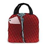 Bolsa de almuerzo con aislamiento Bolsa fresca para loncheras Tela impermeable Bolso de picnic plegable para mujeres Adultos Hombres Niños Insane Beautiful-11