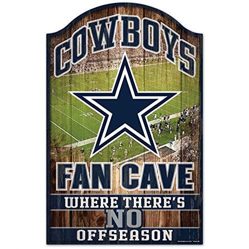 NFL Fan Cave Holzschild, 27,9 x 43,2 cm, Herren Jungen, Dallas Cowboys, OS