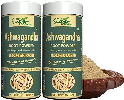 The Super Organic Ashwagandha Powder - (pack of 2) 100 gm each