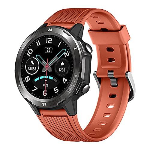 ZGZYL Smart Watch Mens Sports Watch Monitor De Ritmo Cardíaco Smart Watch Vibration IP68 IP68 Reloj Impermeable Cronómetro Pedómetro Smartwatch para Android iOS,B