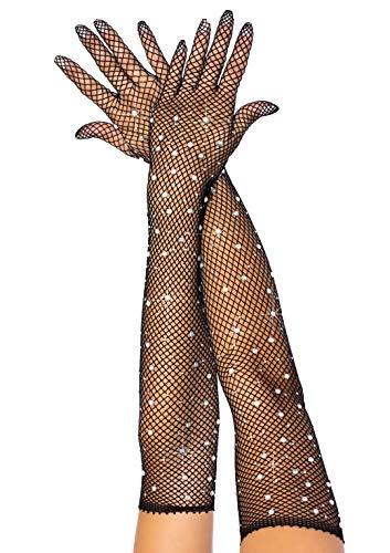 Leg Avenue Damen Rhinestone Opera Length Handschuh für besondere Anlässe, Black, O/S