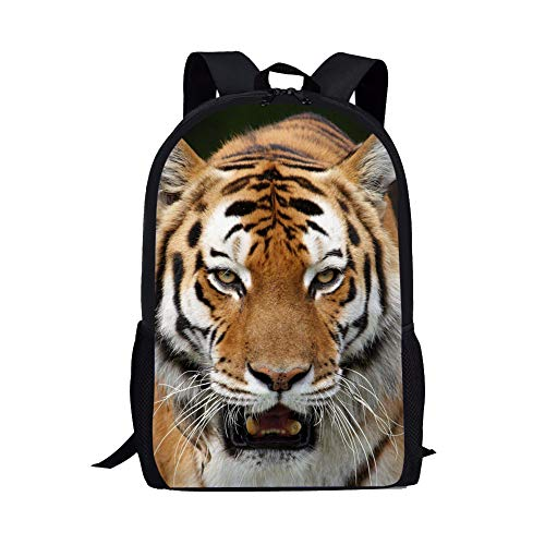 Customized Children School Backpack 3d Tiger Book Bags for Boys Kids Girls
