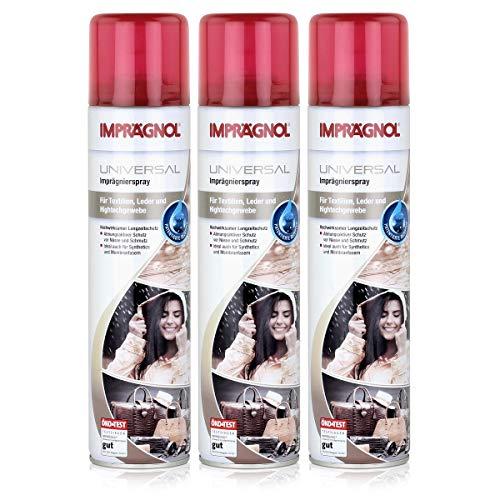 IMPRÄGNOL Spray universel imperméabilisant: Protection idéale pour sacs, chaussures et les vêtements, 3x400 ml