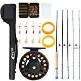 Dr.Fish Fly Fishing Rod Reel Combos 9ft 5/6wt 19-in-1 Prespooled Compelet Starter Package Outfit Kit...